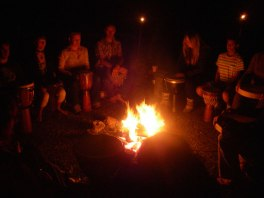 Drumming around fire